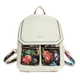 Ericdress Trendy Casual Floral Print PU Backpacks