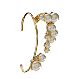 Pearl&Crystal Decorated Individual Ear Cuff
