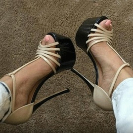 Ericdress T-Strap Peep-toe Stiletto Sandals