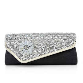 Ericdress Floral Rhinestone Evening Clutches