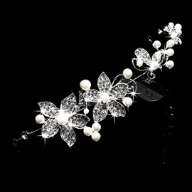 Ericdress Comely Pearls Rhinestone Flowers Headpiece