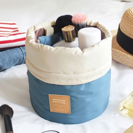 Ericdress Multifunction Round Bucket Cosmetic Bag