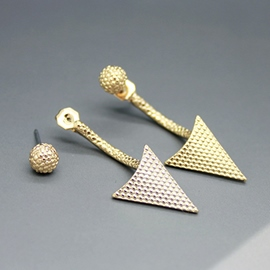 Gracious Geometric Triangle Shaped Earrings