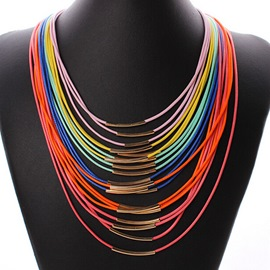 Colorful Multi-layers Necklace