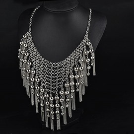Tassels and Little Beads Decorated Necklace
