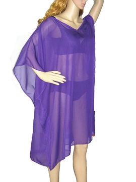 Ericdress Solid Color Sunscreen Beach Cover-up