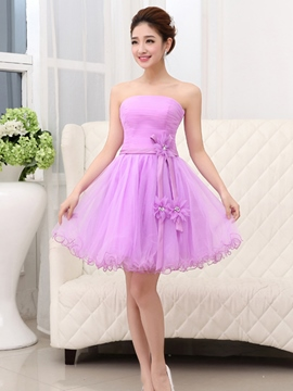 Ericdress Sweetheart Pleats Printed A-Line Zipper-up Short Homecoming Dress