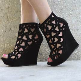 New Splendid Hollow-outs Peep-toe Wedge Sandals