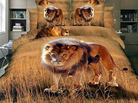 Ericdress African lion Print 4-Piece 3D Bedding Sets