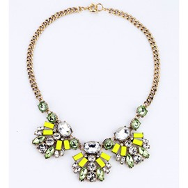 Nice Plant Shaped Alloy Necklace