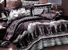 Ericdress Animal Print 4-Piece 3D Bedding Sets