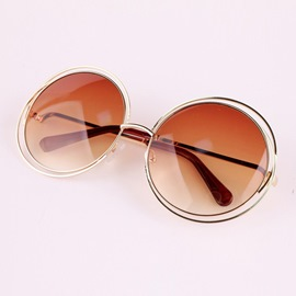 Ericdress Retro Round Metal Sunglasses