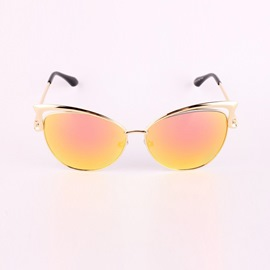 Ericdress Hollow Iridescent Cat Eye Sunglasses