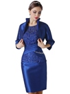 Ericdress Elegant Scoop Cap Sleeves Lace Mother of the Bride Dress With Jacket