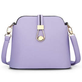 Ericdress Candy Color Cross Pattern Crossbody Bag