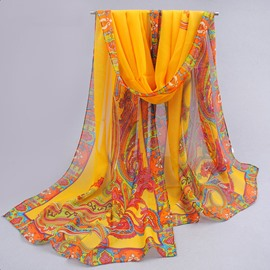 Ericdress Baroque Pattern Floral Print Scarf