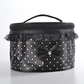 Compressible Bow-knot Wash Cosmetic Bag