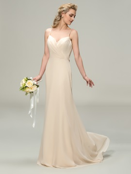Ericdress Beautiful Spaghetti Straps Long Bridesmaid Dress