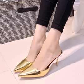 Ericdress Pointed-toe Stiletto Heel Slippers