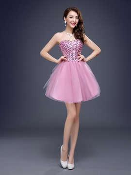 Ericdress Sweetheart Beadings Lace-Up A-Line Homecoming Dress