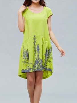 Ericdress Linen Loose Casual Dress