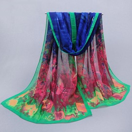 Ericdress Floral Print Holiday Protection Scarf