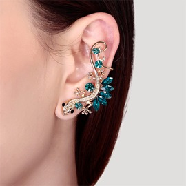 Ericdress Pub Gecko Lizard Diamond Stud Earring