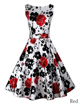 Ericdress Vintage Print Casual Dress