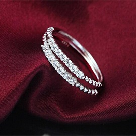 Ericdress Exquisite Crystal Zircon Ring