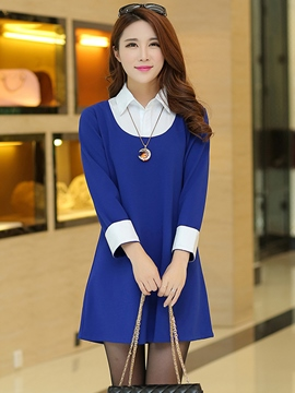 Stand Collar Plus Size Casual Dress