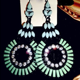 Ericdress Crystal Ethnic Round Earrings(Price For A Pair)