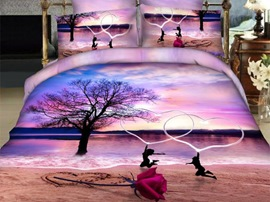 Ericdress Sunset Beach Scene Print 3D Bedding Sets