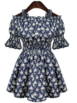 Plus Size Floral Slim Casual Dress