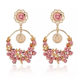 Elegant Flowered Shaped Earrings