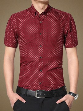 Ericdress Casual Printed Short Sleeve Men's Shirt
