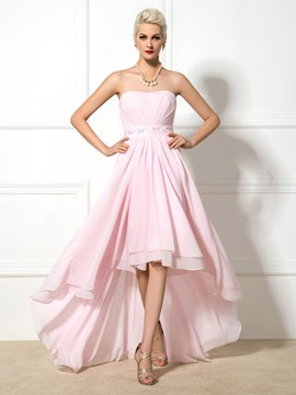 Ericdress Sweetheart Beaded Asymmetrical Prom Dress