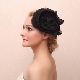 Elegant Big Flower Shaped Hair Accessory
