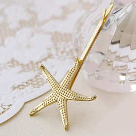Exquisite Double Layer Leaves Starfish Hair Clips