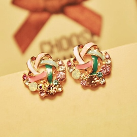 Ericdress Elegant Diamante Wind Mill Earrings(Price For A Pair)