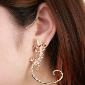Ericdress Pub Diamond Opal Gecko Earrings(Price For A Pair)