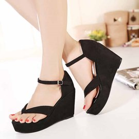Ericdress Roman Clip Toe Wedge Sandals