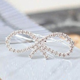Ericdress Bow-knot Rhinestone Side Hair Clip