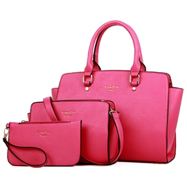 Ericdress European Trendy Solid Color Tote Bags(3 Bags)
