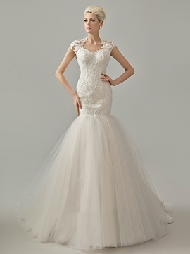 Ericdress Charming Appliques Mermaid Wedding Dress