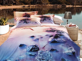 Ericdress Romantic Beach Love Print 3D Bedding Sets