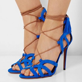Assorted Suede Stiletto Sandals