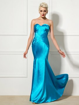 Ericdress Sweetheart Pleats Mermaid Long Evening Dress