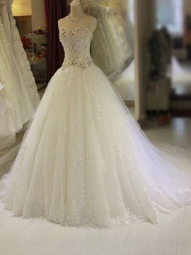 Ericdress Romantic Sweetheart Beading A Line Wedding Dress