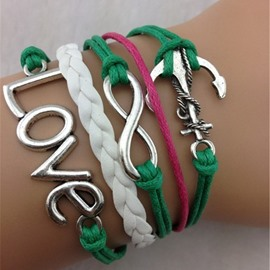 Bold Color Multi-layer Infinity Bracelet