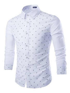 Ericdress Polka Dots Long Sleeve Men's Shirt
